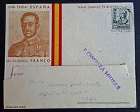 Tarjeta: Una Patria España Un Caudillo Franco, Guerra Civil,Censura Militar-1939