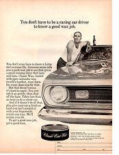 1969 PLYMOUTH BARRACUDA ~ ORIGINAL CLASSIC CAR WAX AD