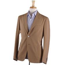 NWT $1595 BOGLIOLI Tan Stripe Lightweight Wool Summer Suit 38 R (Eu 48)