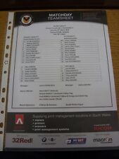 29/03/2014 Colour Teamsheet: Newport County v Portsmouth  . Thanks for viewing o