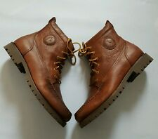 POLO RALPH LAUREN RODWAY PULL UP LACE UP TAN GRAIN LEATHER BOOTS SIZE 10D