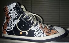 EUC PAUL SMITH women's Wilson style black floral print hi-top shoes sz UK7 US9