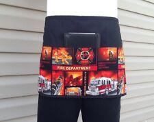 Black Fireman server waitress waist apron 3 pocket restaurant
