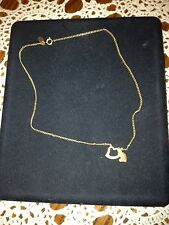 AVON GOLD TONE 16 INCH HEART WITHIN A HEART NECKLACE