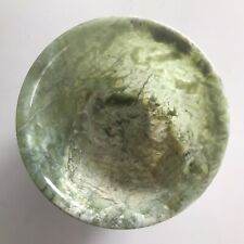 New listing Gorgeous Delicate Translucent Moss Agate Jade Green China Asia Bowl