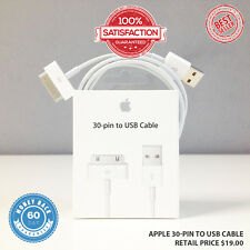 OEM Apple iPhone 3 3G 4 4S 30-pin to USB Sync Data Charging Cable US SELLER