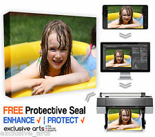 Your Photo On Canvas DEEP FRAMED HEAVYWEIGHT CANVAS PRINT 40x30cm 30mm DEEP
