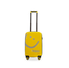 Peace Love World Carry-On Hardside Luggage-Yellow/Happy-NEW-F13594