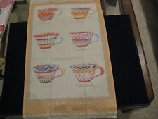 NEW Mackenzie Childs ONE LUMP OR TWO TEA TOWEL Teacup Dish Towel