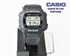 VINTAGE CASIO Collection W-740 ELECTRO LUMINESCENCE QW.1219 JAPAN WR.100