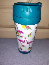 Plastic flamingo travel mug- leak proof- brand new