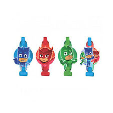 PJ MASKS BLOWOUTS (8) ~ Birthday Party Supplies Favors Disney Junior Catboy Blue