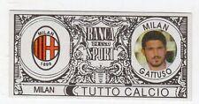 figurina - TUTTO CALCIO EURO MONETE  - MILAN GATTUSO