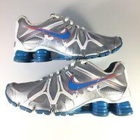 Nike Shox Turbo 13 Women's 8 Running Workout Shoes Silver Gray Blue Youth 6.5