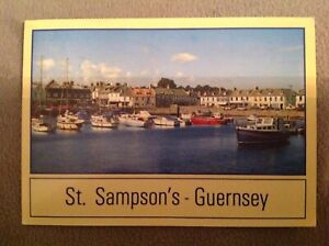 CHANNEL ISLANDS - GUERNSEY - The Bridge at ST SAMPSON'S - used Postcard + stamp