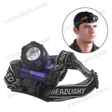 BLUE LED High Power ZOOM Headlamp Outdoor Night Head Light Torch