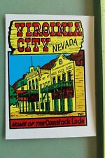 New listing Virginia City Nevada Comstock Home V12 Vintage 1960s Water Transfer Window Decal