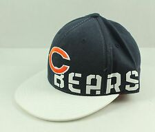 CHICAGO BEARS Blue & White Flat Visor Fitted Hat Cap NFL L / XL