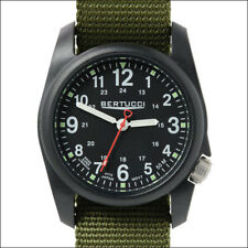 Bertucci DX3 Field Watch, 40mm Black Resin Case w/ Olive Green Nylon Band #11016