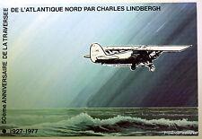 CHARLES LINDBERGH  ATLANTIQUE NORD PREMIER JOUR  FEUILLET CEF - ref 83 -