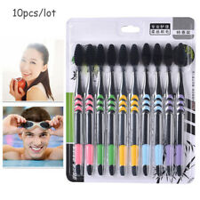 10Pc Double Ultra Soft Bamboo Charcoal Nano Toothbrush Dental Personal Oral Care