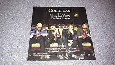 Coldplay Viva La Vida  Promotional  Albm Flat  RARE