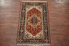 3X5 Persian Serapi Veg' Dye Hand-Knotted Antiqued Area Rug Wool Oriental Carpet