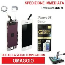 TOUCH SCREEN  LCD DISPLAY RETINA FRAME VETRO SCHERMO PER APPLE IPHONE 5S BIANCO