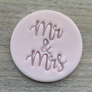 Mr and Mrs Cookie Stamp Fondant Embosser  Icing Frosting Biscuit Stamp Wedding