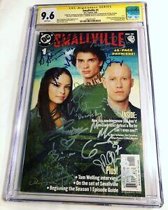 CGC 9.6 SS Smallville #1 signed by Welling, Kreuk, Rosenbaum +12 cast members