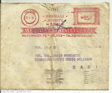 PUGLIA_BARI_GENIO MILITARE_MESSAGGERIE ITALIANE_BUSTA VIAGGIATA PER POSTA_1956