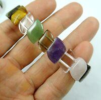 Fashion Mix agate gemstone beads stretchable bracelet R6