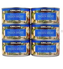 6 CANS KIRKLAND SIGNATURE PREMIUM CHUNK CHICKEN BREAST IN WATER 12.5 OZ EACH
