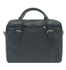 Italian Genuine Leather Men's Shoulderbag / Messenger Bag / Briefcase - Black