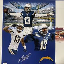 Autographed/Signed KEENAN ALLEN Los Angeles LA Chargers 16x20 Photo JSA COA #2