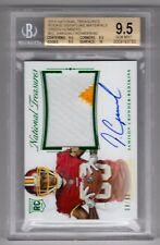 2015 National Treasures Jamison Crowder Green Patch Auto Rc (08/80) BGS 9.5/10