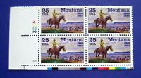 Sc # 2401 ~ Plate # Block ~ 25 cent Montana Statehood, 100th Anniv. Issue (cc24)