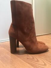 Boots Bottines Daim Cognac Marron H&M LUXURY 38 Prix Boutique 120€