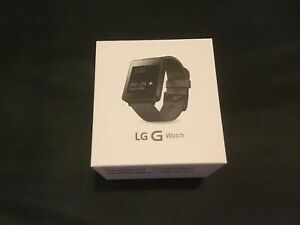 Genuine LG G Smart Watch W100 Black Android Wear IOS  BRAND NEW