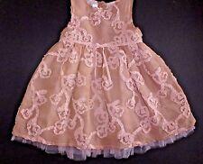 12M BLUMARINE BABY Italy Silk Tulle Dusty Pink Soutache Dress Wedding Portrait