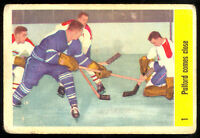 1958 59 PARKHURST #1 JACQUES PLANTE PULFORD COMES CLOSE VG CANADIENS MAPLE LEAFS
