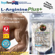 L-Arginine Plus+ 5760mg per serve 240 capsules 30 Day Supply Nitric Oxide (NO)