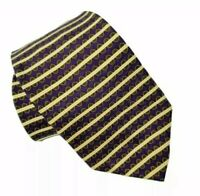 Bill Blass Neo Silk Tie Purple Gold Green White Necktie