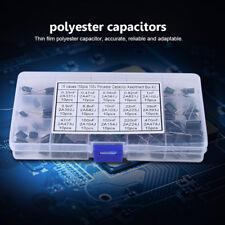 150pcs Polyester Film Capacitors Assortment Kit Box 100v 15 Value 033nf 470nf