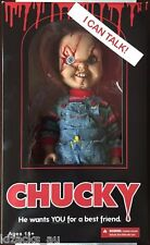 "TALKING CHUCKY DOLL FIGURE SCARRED NEW! MEGA SCALE 15"" TALL CHILDS PLAY"