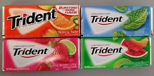 Trident Gum USA Candy 4 pack Tropical, Watermelon, Island Berry & Mint Bliss