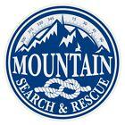 Mountain Search & Rescue Small Round Blue/White Reflective Decal Sticker