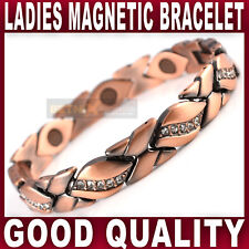 Ladies MAGNETIC BRACELET strong magnets bangle in antique copper womens quality