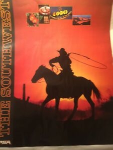 Set of 4 1980's Vintage PSA Pacific Southwest Airlines Travel Posters