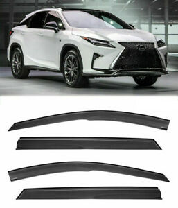 For 16-Up Lexus RX350 RX450 Side Window Vent Rain Guard JDM Mugen Tape-On Visors